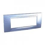 Italian Cover Frame Unica Allegro, Glacier blue, 6 modules