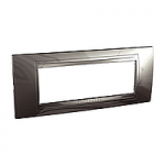 Italian Cover Frame Unica Allegro, Technical grey, 6 modules