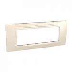 Italian Cover Frame Unica Allegro, Cream, 6 modules