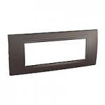 Italian Cover Frame Unica Allegro, Graphite grey, 6 modules