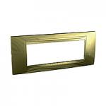 Italian Cover Frame Unica Allegro, Golden, 6 modules