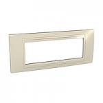 Italian Cover Frame Unica Allegro, Sand yellow, 6 modules