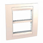 Cover & Fixing Frame Unica Plus IT, Ivory, 2 x 4 modules