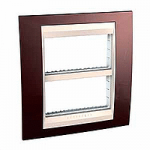 Cover & Fixing Frame Unica Top IT, Terracotta/Ivory, 2 x 4 modules