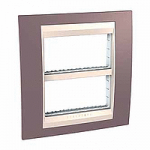 Cover & Fixing Frame Unica Plus IT, Mauve/Ivory, 2 x 4 modules