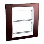 Cover & Fixing Frame Unica Plus IT, Terracotta/White, 2 x 4 modules