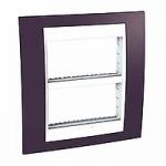 Cover & Fixing Frame Unica Plus IT, Garnet/White, 2 x 4 modules