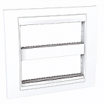 Cover & Fixing Frame Unica Plus IT, White, 2 x 6 modules