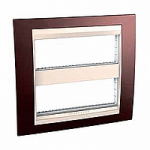 Cover & Fixing Frame Unica Top IT, Terracotta/Ivory, 2 x 6 modules