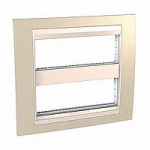 Cover & Fixing Frame Unica Plus IT, Sand yellow/Ivory, 2 x 6 modules
