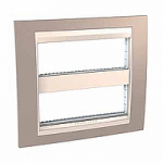 Cover & Fixing Frame Unica Plus IT, Mink/Ivory, 2 x 6 modules