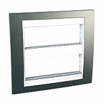 Cover & Fixing Frame Unica Plus IT, Champagne/White, 2 x 6 modules