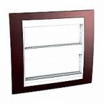 Cover & Fixing Frame Unica Plus IT, Terracotta/White, 2 x 6 modules