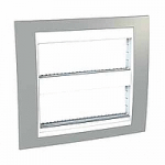 Cover & Fixing Frame Unica Plus IT, Mist grey/White, 2 x 6 modules