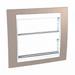 Cover & Fixing Frame Unica Plus IT, Mink/White, 2 x 6 modules