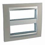 Cover & Fixing Frame Unica Top IT, Matt nickel/Aluminium, 2 x 6 modules