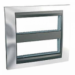 Cover & Fixing Frame Unica Top IT, Bright chrome/Graphite, 2 x 6 modules