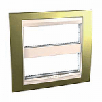 Cover & Fixing Frame Unica Top IT, Gold/Graphite, 2 x 6 modules