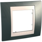 Cover Frame Unica Plus, Champagne/Ivory, 1 gang