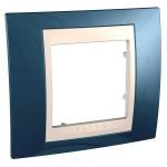 Cover Frame Unica Plus, Glacier blue/Ivory, 1 gang