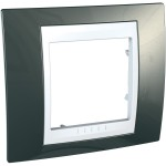 Cover Frame Unica Plus, Champagne/White, 1 gang