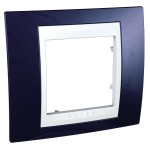 Cover Frame Unica Plus, Indigo blue/White, 1 gang