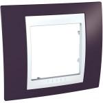 Cover Frame Unica Plus, Garnet/White, 1 gang