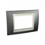 Italian Cover Frame Unica Plus IT, Champagne/Ivory, 3 modules