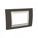 Italian Cover Frame Unica Plus IT, Cacao/Ivory, 3 modules