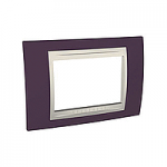 Italian Cover Frame Unica Plus IT, Garnet/Ivory, 3 modules