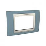 Italian Cover Frame Unica Plus IT, Maganese blue/Ivory, 3 modules