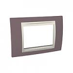 Italian Cover Frame Unica Plus IT, Mauve/Ivory, 3 modules