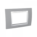 Italian Cover Frame Unica Plus IT, Mist grey/White, 3 modules