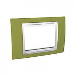 Italian Cover Frame Unica Plus IT, Pistachio/White, 3 modules