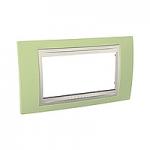 Italian Cover Frame Unica Plus IT, Apple green/Ivory, 4 modules