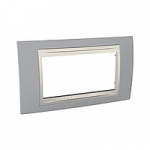 Italian Cover Frame Unica Plus IT, Mist grey/Ivory, 4 modules