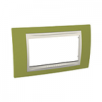 Italian Cover Frame Unica Plus IT, Pistachio/Ivory, 4 modules