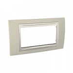 Italian Cover Frame Unica Plus IT, Sand yellow/Ivory, 4 modules