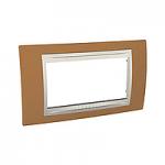 Italian Cover Frame Unica Plus IT, Orange/Ivory, 4 modules