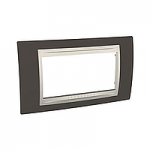Italian Cover Frame Unica Plus IT, Cacao/Ivory, 4 modules