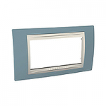 Italian Cover Frame Unica Plus IT, Maganese blue/Ivory, 4 modules