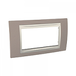 Italian Cover Frame Unica Plus IT, Mink/Ivory, 4 modules