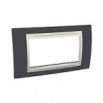 Italian Cover Frame Unica Plus IT, Slate grey/Ivory, 4 modules