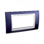 Italian Cover Frame Unica Plus IT, Indigo blue/White, 4 modules