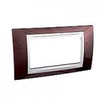 Italian Cover Frame Unica Plus IT, Terracotta/White, 4 modules