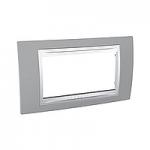 Italian Cover Frame Unica Plus IT, Mist grey/White, 4 modules