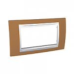 Italian Cover Frame Unica Plus IT, Orange/White, 4 modules
