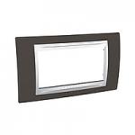 Italian Cover Frame Unica Plus IT, Cacao/White, 4 modules