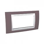 Italian Cover Frame Unica Plus IT, Mauve/White, 4 modules