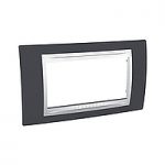 Italian Cover Frame Unica Plus IT, Slate grey/White, 4 modules